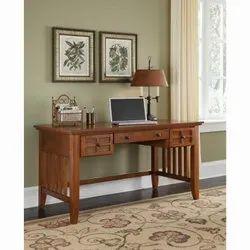 Brown Rectangular Wooden Drawer Table