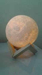 14cm 3d Printed Moon Lamps