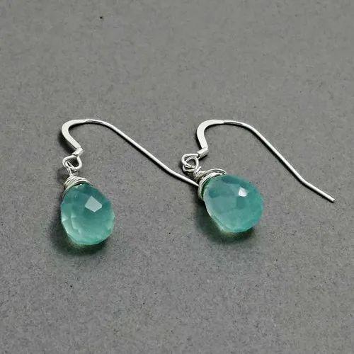 Aqua Blue Chalcedony Earrings