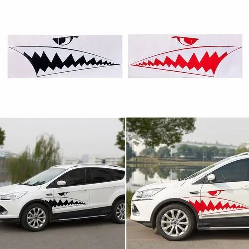 Red,Black Vinyl Car Body Sticker, Packaging Type: Packet