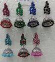Oxidized Meenakari Earring