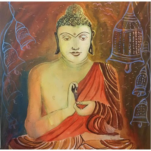Buddha Wall Art Abstract Canvas Painting