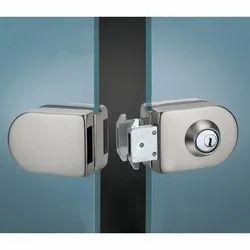 Rixson Stainless Steel SS Glass Door Lock, Chrome