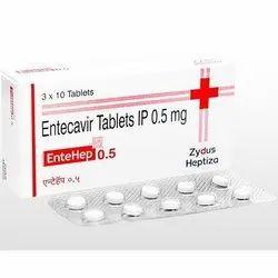 Zydus Heptiza Entecavir Tablets IP, 3x10 Tablet