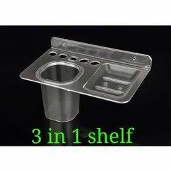 3 in 1 Bathroom Shelf Holder, Packaging Type: Box