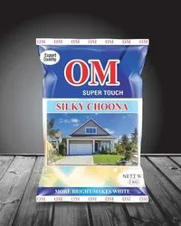White 5 Kg Om Super Touch Silky Limestone Paste