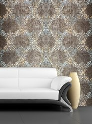Vinyl Royal Pattern Drawing Room Wallpaper, Shape: Vertical