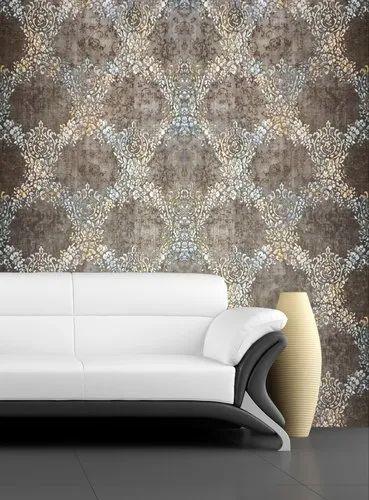 Vinyl Royal Pattern Drawing Room, Wallpaper For Living Rooms