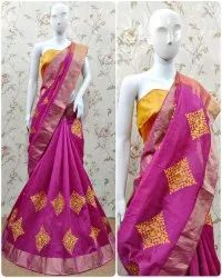 Riva Enterprise Cotton Silk Saree With Embroidery Work