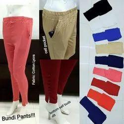 Pimienta Cotton Plain Ladies Pants