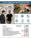 18 Zones Walk Through Metal Detector