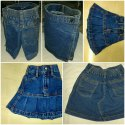 Kids School Uniforms Denim Shorts and Skirt Rapron