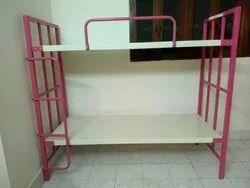 Pink And Ivory metal Bunker cot, For Hostel, Pg, For Hostel