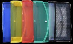 Plain A/6 Classik Transparent Cross Line Design Document Bag 0.35_601