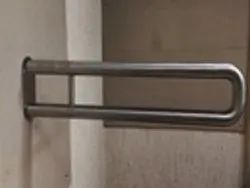 Handicap Toilet Accessories Stainless Steel SS Grab Bars - Fix Armrest, For Universal, Size/Dimension: 600mm