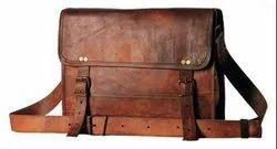 Men Plain Leather Bag