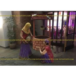 Punjabi Theme Wedding Decor Fiber Statue for Wedding decoration