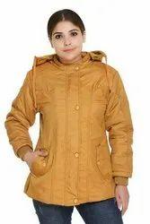 Full Sleeve Quilted Jacket Women Jackets, Size: Large
