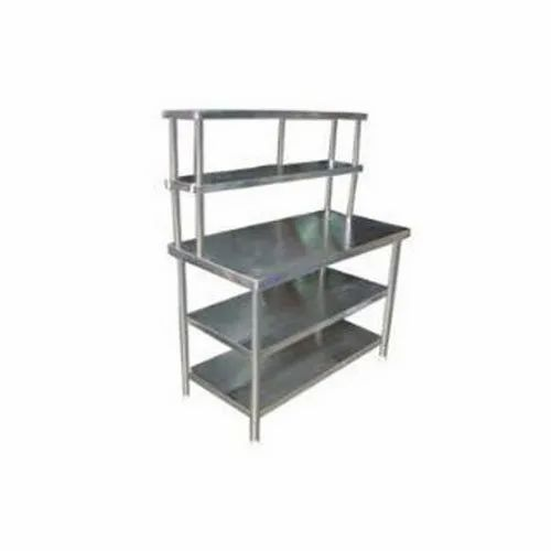 Table With Over Head Shelves