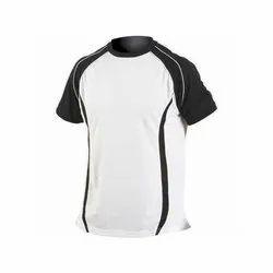 白,黑棉运动t恤
