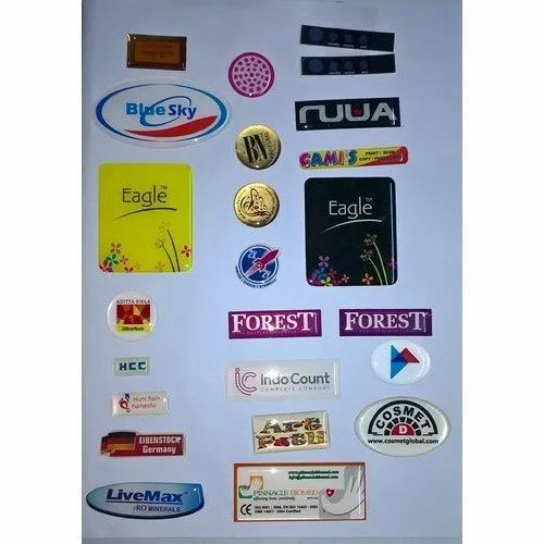 PU Dome Printed Stickers, Packaging Type: PP Packet