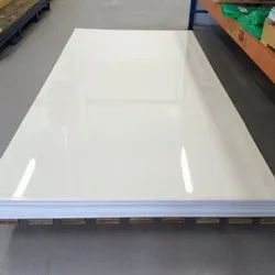 White Plain PVC Sheets, for Commercial, Thickness: 0.7 to 1.2