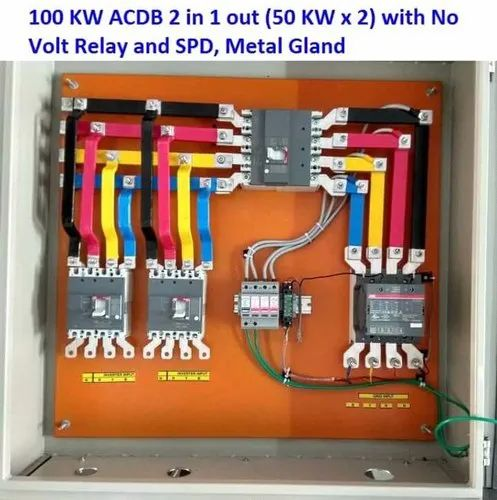 Own Poly Carbonate Material ACDB Solar Electrical Panel, 415 V