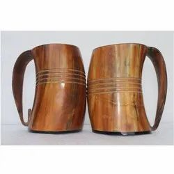 Brown Drinking Horn Mug, For Hotels And Restaurants