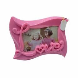 Plastic Pink Baby Photo Frame, For Decoration, Size: 2 X 4 Inch