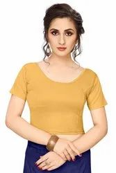 Jelite Shimmer Plain Saree Blouse