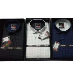 For You Casual Wear Men Check Cottons Shirt, Size: S-xxl