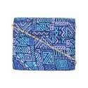 Azzra Daily Use Blue Ethnic Designs Women Print Clutch