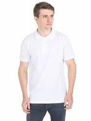 Half Sleeves Mens Plain Collar T Shirt