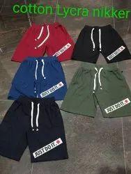 100% Cotton Lycra Shorts
