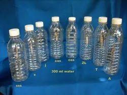 Transparent 300ml Capacity Plastic Water Bottle