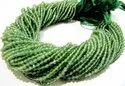 Natural Green Apatite Round Faceted Beads 3mm Strand 13 inches