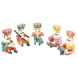 Wooden Musicians Figurines for Home Decoration