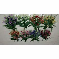 Green Artificial Decorative Plastic Flower