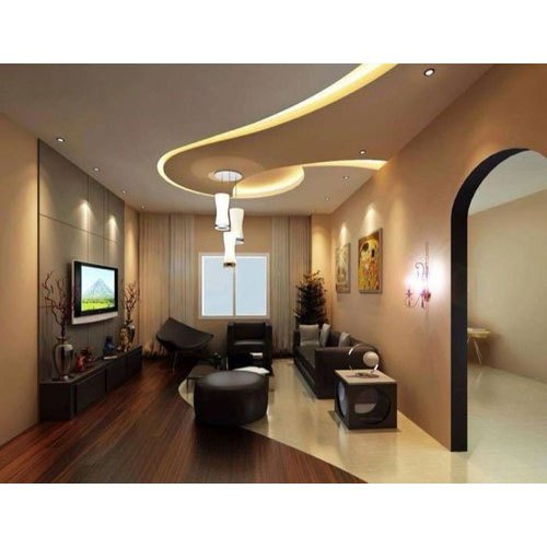 White Living Room Pvc False Ceiling Thickness 6 Mm Rs 110 Square Feet Id 20739048412