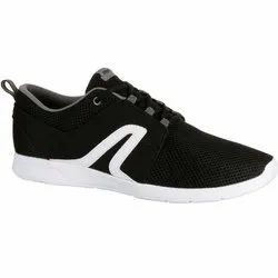 Newfeel 140 Mesh Black and White Men Walking Shoes