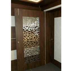Modern CNC Jali Design Wooden Door
