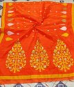 Handloom Floral Embroidery Work Sarees