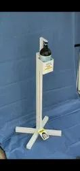 Touch Free Foot Lever Enabled Sanitizer Stand
