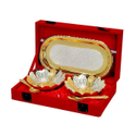 Wedding Gift Silver And Gold Plated Bowl Set