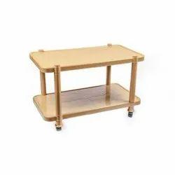 Brown Mahima Gold Plastic Tea Table, Size: 32 X 17 Inch