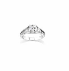 Real Round Diamond Wedding Ring