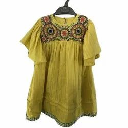 Casual Wear Embroidered Kids Designer Top