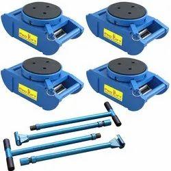 Blue Mild Steel ROLLER MACHINE SKATES, For Industrial, Capacity: 50 TONS
