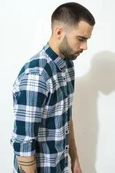 Green Hill Mens Checks Shirt