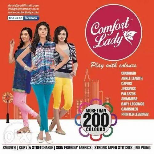 ff547e70f8435 Churidar Plain Comfort Lady Leggings IC & Ankle, Rs 220 /piece | ID ...